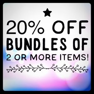 20 percent of Bundles with two or more items!!!
